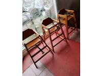 Free Restaurant high chairs