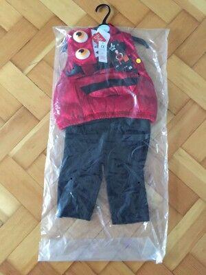New Unisex TU Little Devil HALLOWEEN Outfit - Size 6 -9 Months  -Mint + Tag