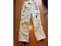 White ski snowboard winter pants water resistant