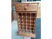 Pine wine cabinet