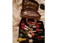 Nail Varnishes 35 + fcuk storage bag
