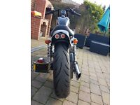 2000 Harley Sportster Hugger, Low milage, Black, Lots of chrome and white wall tyres
