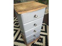 Hand painted chest slim chest of draws