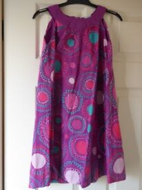 Girls Verbaudet purple patterned dress