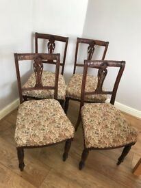 Four dining room chairs good condition