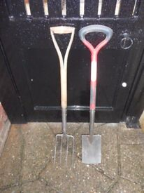 Spear and Jackson stainless steel fork and spade