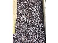 1/4 bag of plum slate 20mm