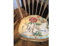 4 x LOVELY PADDED CHAIR CUSHIONS