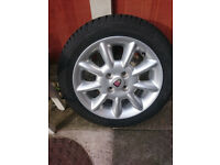 ROVER 25/200 SPARE ALLOY WHEEL AND TYRE GOOD TREAD