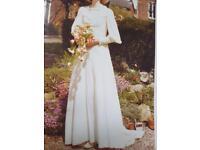 Vintage wedding dress in vintage style