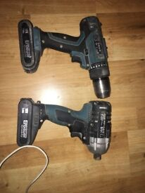 Erbauer Combi and impact driver 18v 2AH