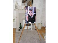 Home furnishing Artists Easel Stand by Royal Lang Nickle - With Audrey Hepburn screen print