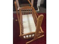 Mothercare Baby swinging crib with mattress only£10