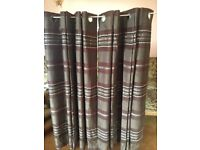 "Brand new eyelet lined curtains 66"" x 54"" brown Coloroll RRP £99"