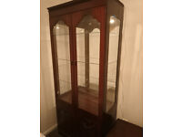 FREE Cabinet with glass shelves, Light and three coffee tables