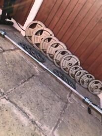 145kg Olympic TriGrip Weights & Barbell Set. •Can Deliver•