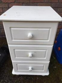 3 drawer unit (will need repainted)