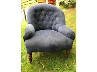 Blue armchair / bedroom chair