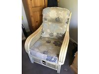 Wicker conservatory chair for sale