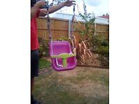 Baby swing seat. Pink
