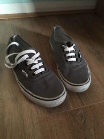 Grey Vans size 5.5uk