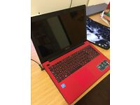 """Asus X553S 15"""" Dual core Laptop, Win10, 4Gb , 1Tb Hdd in Red/pink"""