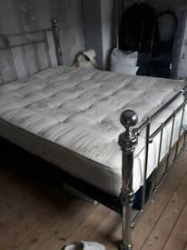 Kingsize bed and mattress