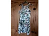 Short Floral A-line dress