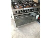 Lofra range stainless steel gas cooker - 90cm with stainless steel hood