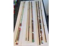 Antique Fishing Rods x 3