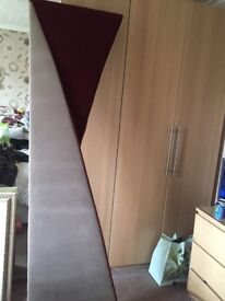 Solid pelmet and matching curtains