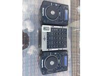 NDX 500 (Pair) & Numark M4 Mixer