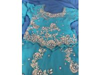 Blue party lengha
