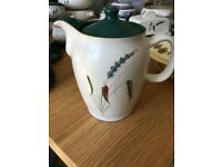 DENBY COFFEE POT VINTAGE GREEN WHEAT