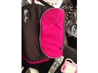 Silver Cross raspberry coloured changing bag