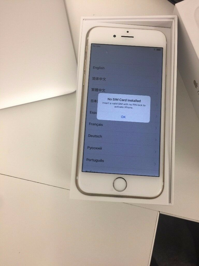 Iphone 6 Gold - 64 Gb - Grade A and Boxed and Unlocked