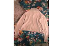 Dusty Pink High Neck Topshop Jumper size 8