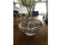Bohemia crystal cut glass rose/pot pourri bowl