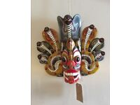 Vintage mask from Peru for wall