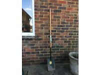 Extra long hand forged British spade