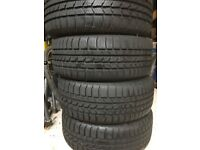 4 snow tyres and wheels - 215/55R16 - 8mm of tread remaining
