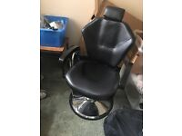 Beauty, barber HD brow chair black