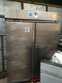 Double door stainless steel freezer