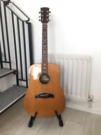 full size Kimbara Acoustic guitar +case