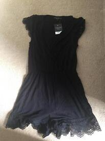 Black topshop tall jumpsuit size 12