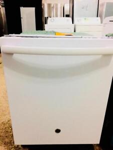 Scratch and Dent GE White Dishwasher With Stainless Steel Tub, Save The Tax Event, Free 30 Day Warranty
