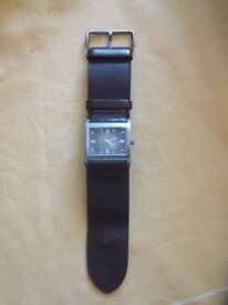 Guess watch with watchband in leather