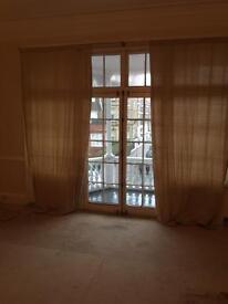 Pair of Linen Curtains (inc Pole)
