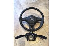 Vw steering wheel air bag indicator stalks and squib caddy polo