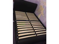 Leather double bed- (bought from Dreams)